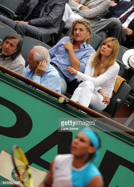 Jean SARKOZY Novak DJOKOVIC / Rafael NADAL 1/2 Finale Messieurs Roland Garros 2007 Jour 13 Photo Dave Winter / Icon Sport