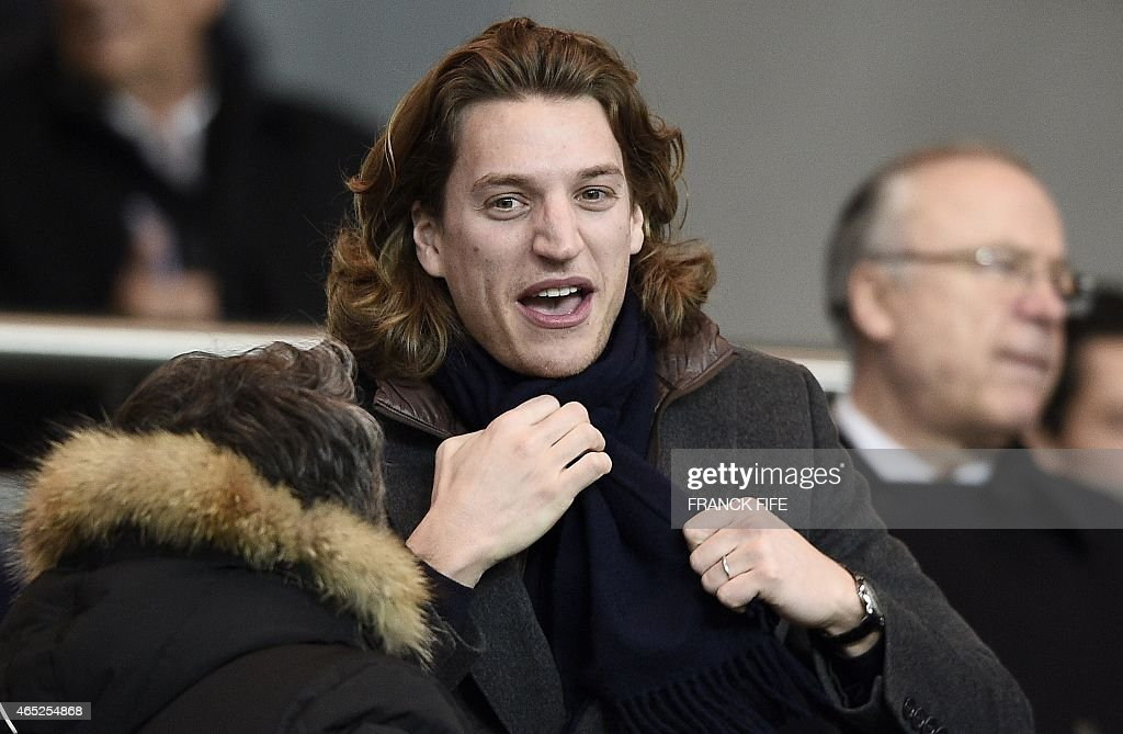 Jean Sarkozy, the son of Former French president is pictured during the French Cup football match between Paris Saint-Germain (PSG) and Monaco on February 4, 2015 at the Parc des Princes stadium in Paris. Paris won 2-0.
