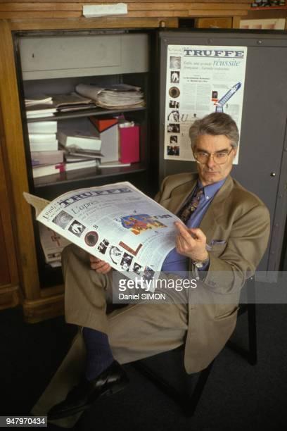 Jean Schalit directeur du quoitidien 'La Truffe' le 5 mai 1991 a Paris France