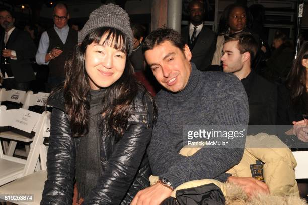 Jean Scheidnes and Alex Badia attend JOHN BARTLETT Fall/Winter 2010 Runway Show at 174 Hudson St on February 10 2010 in New York City