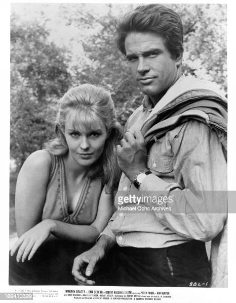 Jean Seberg and Warren Beatty in publicity portrait for the film 'Lilith', 1964.
