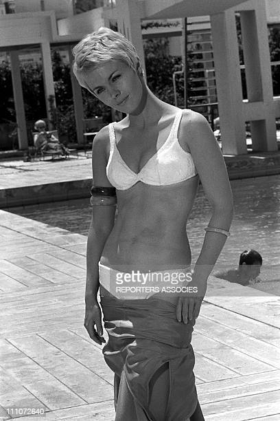 Jean Seberg at filming of 'La Route De Corinthe' in Greece on May 22 1967