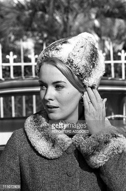 Jean Seberg at filming of 'Moment to Moment' in Nice France in January 1965