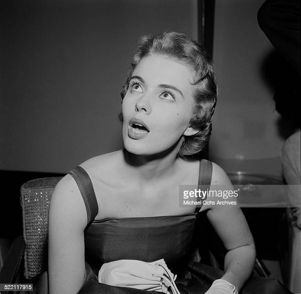 Jean Seberg attends a party in Los AngelesCA