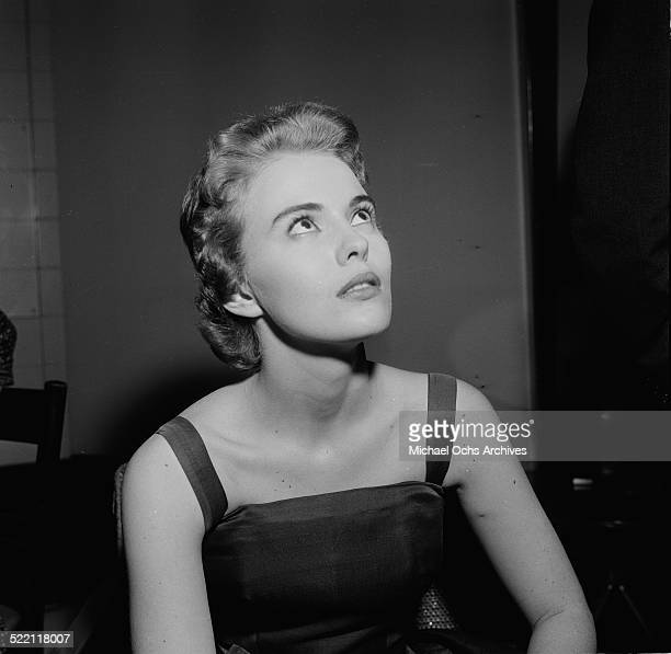 Jean Seberg attends a party in Los Angeles,CA.