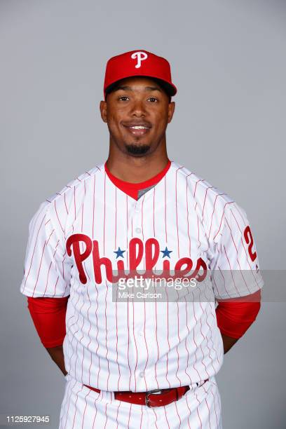Jean Segura of the Philadelphia Phillies poses during Photo Day on Tuesday February 19 2019 at Spectrum Field in Clearwater Florida