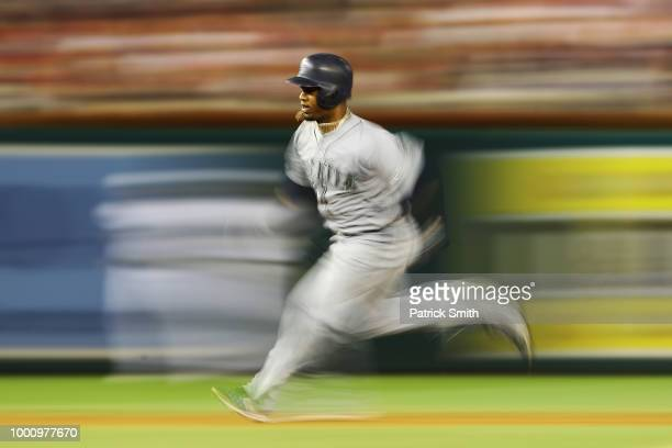 Jean Segura of the Seattle Mariners and the American League runs the bases in the tenth inning against the National League during the 89th MLB...