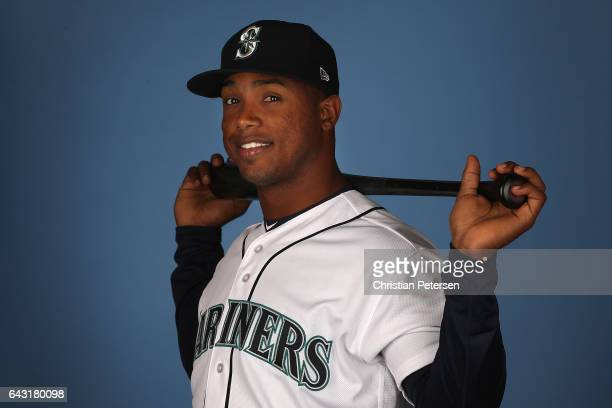 Jean Segura of the Seattle Mariners poses for a portrait during photo day at Peoria Stadium on February 20 2017 in Peoria Arizona