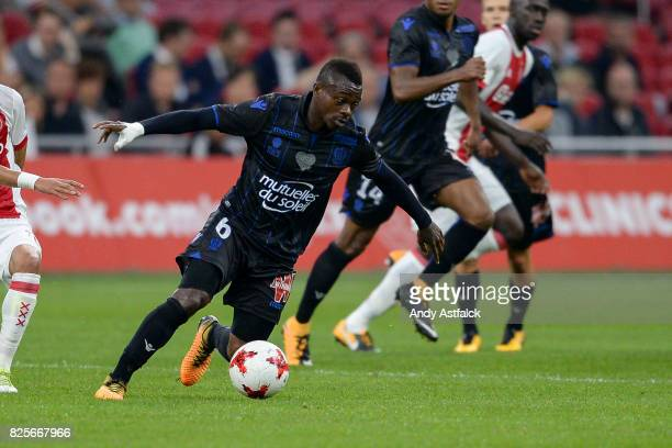 Jean Seri from OSC Nice during the UEFA Champions League Qualifying Third Round Second Leg match between AJAX Amsterdam and OSC Nice at Amsterdam...