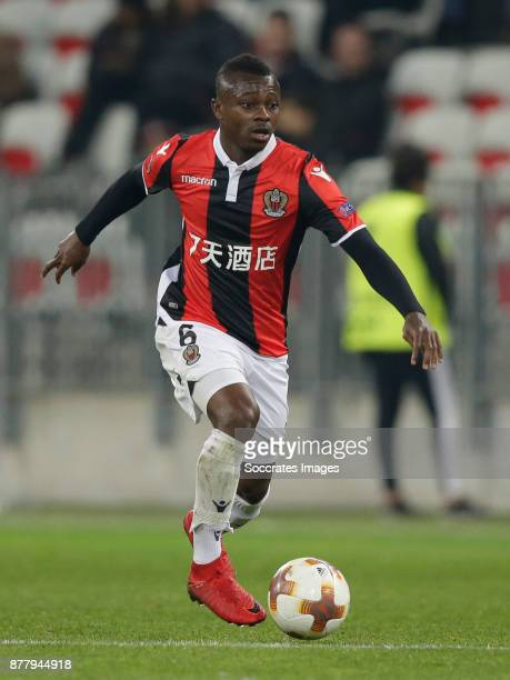 Jean Seri of Nice during the UEFA Europa League match between Nice v Zulte Waregem at the Allianz Riviera on November 23 2017 in Nice France
