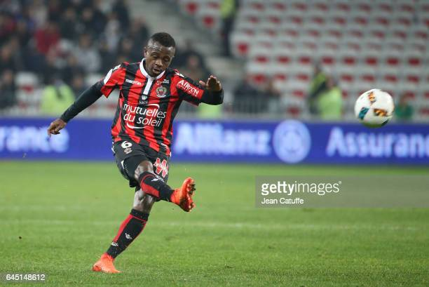 Jean Seri of Nice in action during the French Ligue 1 match between OGC Nice and Monptellier Herault SC at Allianz Riviera stadium on February 24...