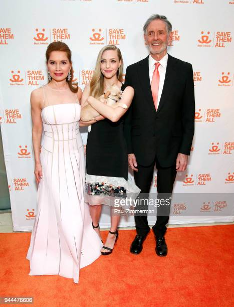 Jean Shafiroff Amanda Seyfried and Gregory Castle attend 3rd Annual Best Friends Animal Society New York City Gala at Guastavino's on April 10 2018...