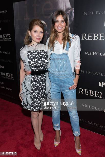 Jean Shafiroff and Alina Puscau attend the 'Rebel in the Rye' New York Premiere at Metrograph on September 6 2017 in New York City