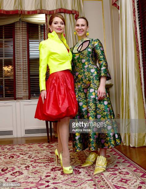 Jean Shafiroff and Alyson Cafiero attend Jean Shafiroff's anual Cocktail party at a Private Residence on February 27 2018 in New York City at Private...