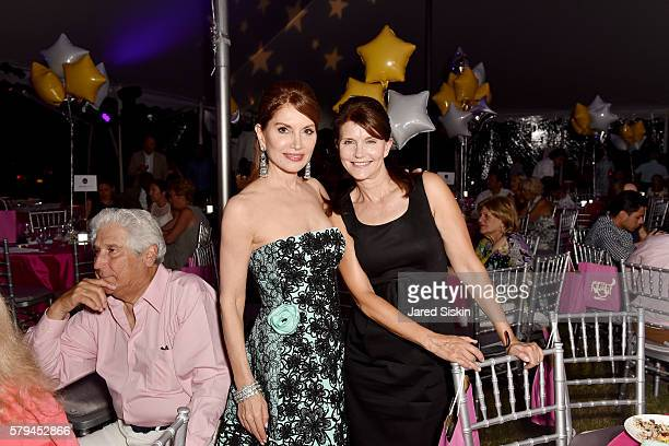 Jean Shafiroff and Anna ThroneHolst attend Ellen Hermanson Foundation Starry Night Gala on July 23 2016 in Southampton New York