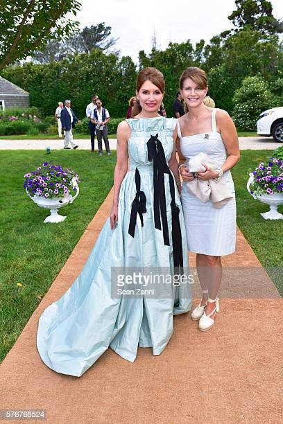Jean Shafiroff and Anna ThroneHolst attend Southampton Animal Shelter Foundation's 7th Annual Unconditional Love Dinner Dance 2016 at Private...