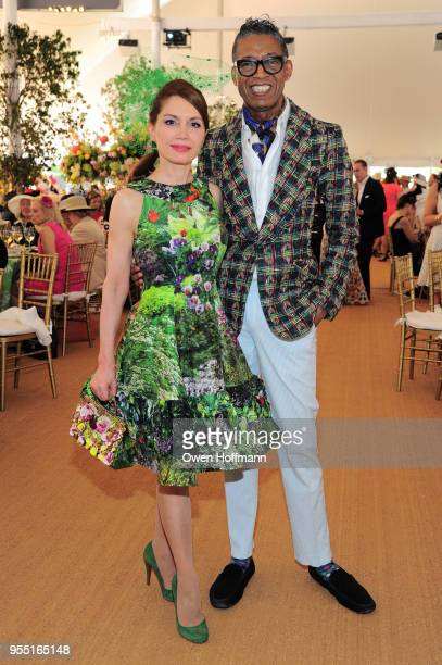 Jean Shafiroff and B Michael attend 36th Annual Frederick Law Olmsted Awards Luncheon Central Park Conservancy at The Conservatory Garden in Central...