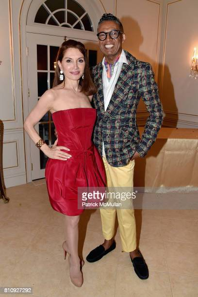 Jean Shafiroff and B Michael attend Katrina and Don Peebles Host NY Mission Society Summer Cocktails at Private Residence on July 7 2017 in...