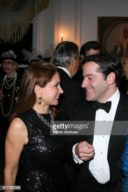 Jean Shafiroff and Chris Obetz attend Portrait artist ZITA DAVISSON's Great Gatsby Party A Roaring 20's Evening at Private Residence on October 20...