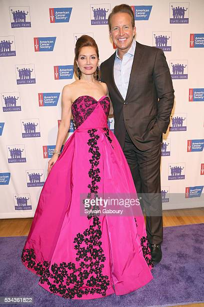 Jean Shafiroff and Chris Wragge attend The American Cancer Society's 11th annual Taste of Hope event at Metropolitan Pavilion on May 25 2016 in New...