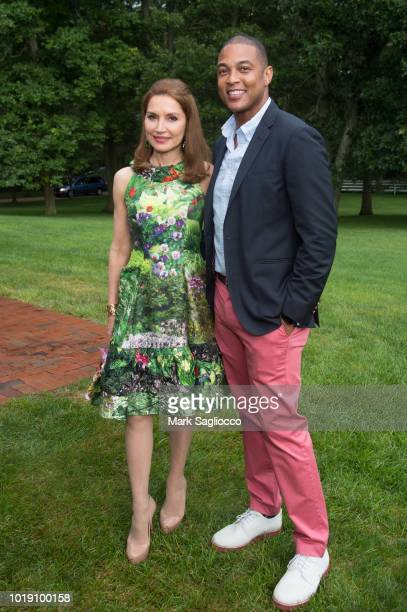 Jean Shafiroff and CNN Host Don Lemon attend the UNCF Gala Hosted by Co-chairs Jean Shafiroff and Gregory Lowe II on August 18, 2018 in East Hampton,...