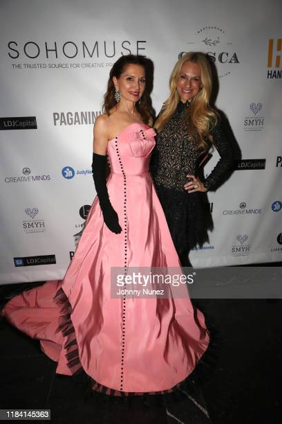 Jean Shafiroff and Consuelo Vanderbilt Costin attend Paganini Honors Paganini at Ascent Lounge on October 28 2019 in New York City