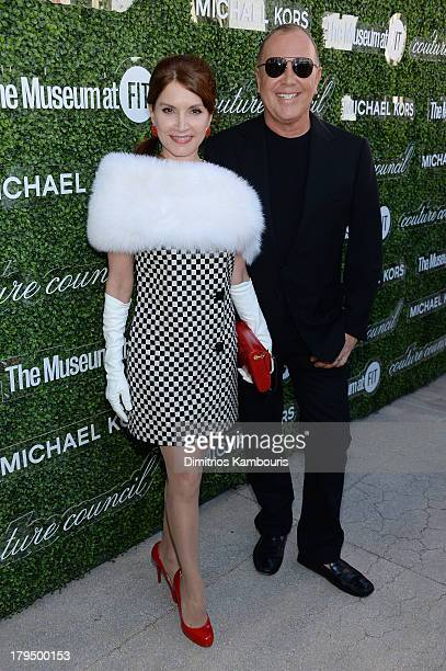 Jean Shafiroff and designer Michael Kors attend The Couture Council of The Museum at the Fashion Institute of Technology hosted luncheon honoring...