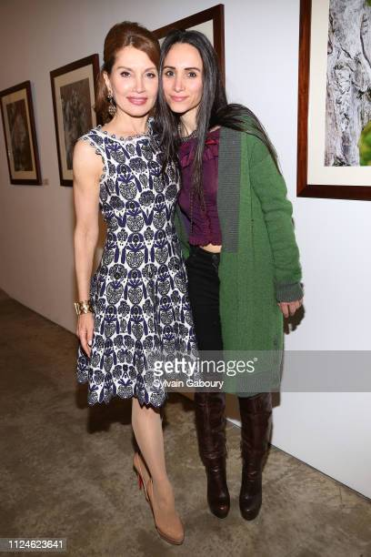 Jean Shafiroff and Elizabeth Shafiroff attend Global Strays Hosts Cocktails With Fine Art Photographer Ted Barkhorn at Novo Locale 263 Bowery on...