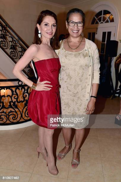 Jean Shafiroff and Elsie McCabe Thompson attend Katrina and Don Peebles Host NY Mission Society Summer Cocktails at Private Residence on July 7 2017...