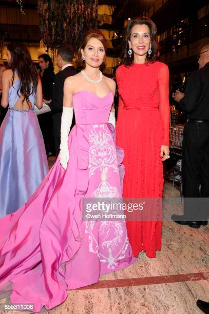 Jean Shafiroff and Fe Fendi attend the New York City Ballet's 2017 Fall Fashion Gala on September 28 2017 in New York City