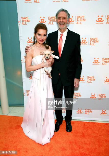 Jean Shafiroff and Gregory Castle attend 3rd Annual Best Friends Animal Society New York City Gala at Guastavino's on April 10 2018 in New York City
