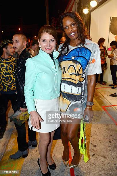 Jean Shafiroff and Guest attend Patricia Field Art Basel Debut with Art Fashion Pop Up and Runway Presentation at The White Dot Gallery in Wynwood on...