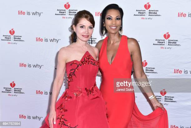 Jean Shafiroff and Harris Faulkner attend the 21st Annual Hamptons Heart Ball at Southampton Arts Center on June 10 2017 in Southampton New York