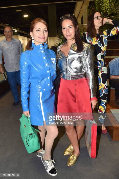 Jean Shafiroff and Jara Ghadri attend Art Basel Miami Beach Private Day at Miami Beach Convention Center on December 6 2017 in Miami Beach Florida