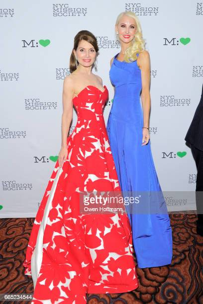 Jean Shafiroff and Katrina Peebles attend 2017 Champion For Children Gala at Mandarin Oriental on April 5 2017 in New York City