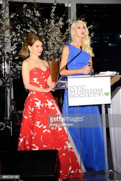 Jean Shafiroff and Katrina Peebles speak at 2017 Champion For Children Gala at Mandarin Oriental on April 5 2017 in New York City