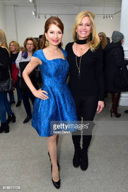 Jean Shafiroff and Leesa Rowland attend Jean Shafiroff Ambassador for Southampton Animal Shelter Hosts Private Preview of Ejaz Khan's Exhibition...