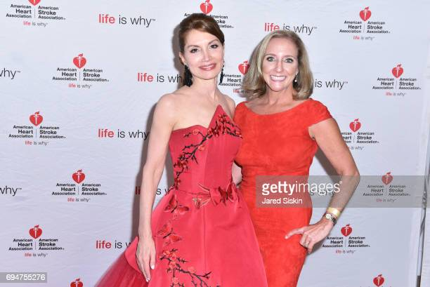 Jean Shafiroff and Lori Mosca attend the 21st Annual Hamptons Heart Ball at Southampton Arts Center on June 10 2017 in Southampton New York
