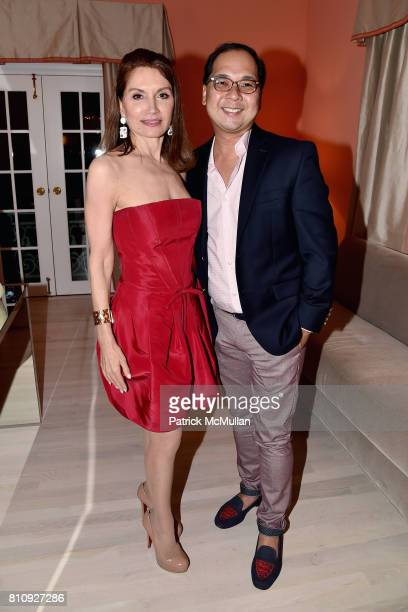 Jean Shafiroff and Loy Carlos attend Katrina and Don Peebles Host NY Mission Society Summer Cocktails at Private Residence on July 7 2017 in...
