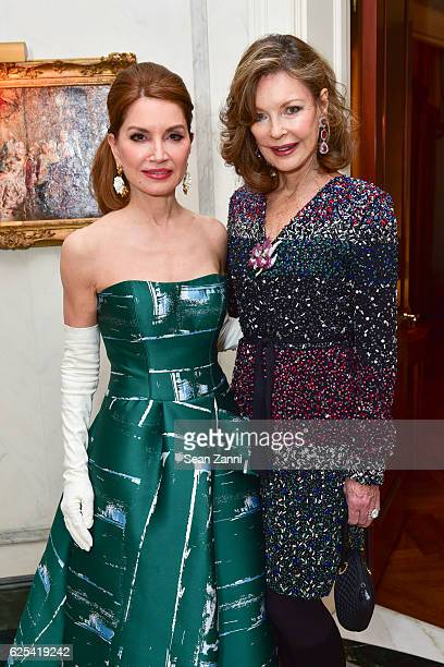 Jean Shafiroff and Margo Langenberg attend Martin and Jean Shafiroff Host Thanksgiving Cocktails for NYC Mission Society at Private Residence on...