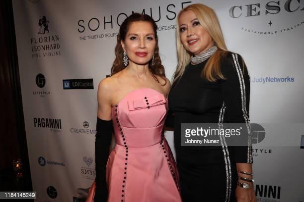 Jean Shafiroff and Maria Elena Paganini attend Paganini Honors Paganini at Ascent Lounge on October 28 2019 in New York City
