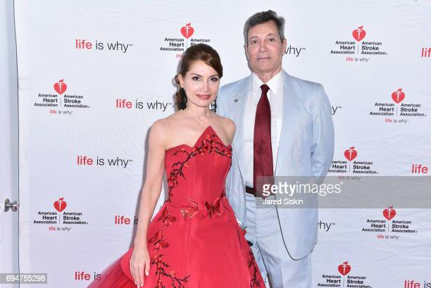 Jean Shafiroff and Matt Rich attend the 21st Annual Hamptons Heart Ball at Southampton Arts Center on June 10 2017 in Southampton New York