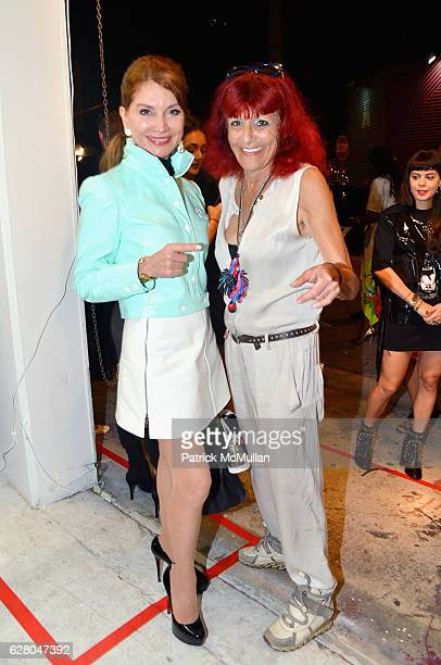 Jean Shafiroff and Patricia Field attend the Patricia Field Art Basel Debut with Art Fashion Pop Up and Runway Presentation at The White Dot Gallery...