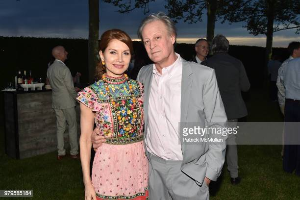 Jean Shafiroff and Patrick McMullan attend The 18th Annual Midsummer Night Drinks Benefiting God's Love We Deliver at Private Residence on June 9...