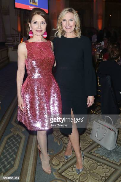 Jean Shafiroff and Poppy Harlow attend The New York Women's Foundation 2017 Fall Gala at The Plaza Hotel on October 2 2017 in New York City