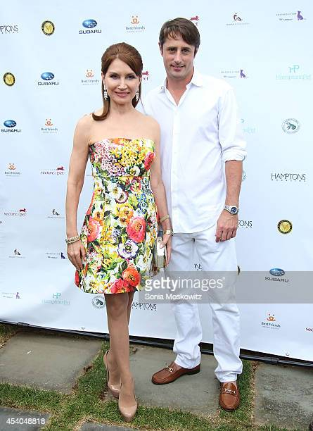 Jean Shafiroff and Prince Lorenzo Borghese attend the 3rd annual Pet Hero Awards at Hobby Hill Estate on August 23, 2014 in Water Mill, New York.