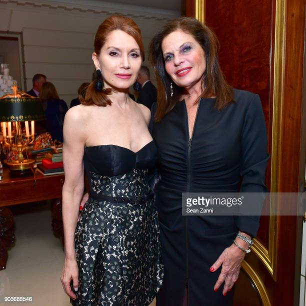 Jean Shafiroff and Sylvia Hemingway attend Friends of Budapest Festival Orchestra Reception Hosted by Susan Gutfreund at Private Residence on January...