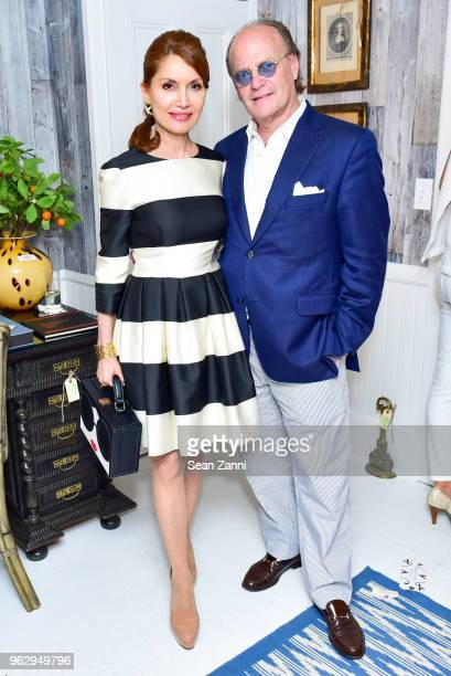 Jean Shafiroff and Tom Samet attend ARF Thrift Shop Designer Show House Sale at ARF Thrift Treasure Shop on May 26 2018 in Sagaponack New York