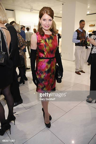 Jean Shafiroff attends Reflections Art And Beauty Exhibition at the Sherle Wagner Showroom on March 27 2014 in New York City