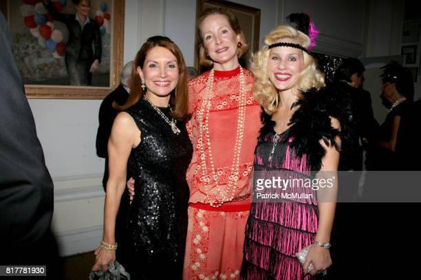 Jean Shafiroff Barbara De Portago and MichelleMarie Heinemann attend Portrait artist ZITA DAVISSON's Great Gatsby Party A Roaring 20's Evening at...